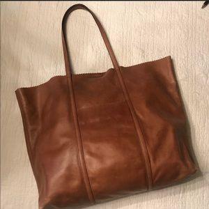 Banana Republic Brown Leather Tote Bag